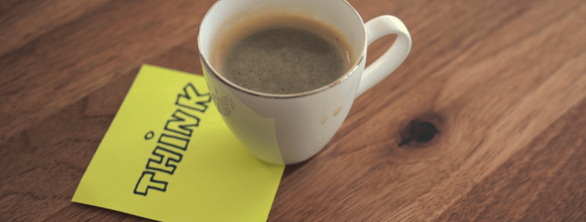 nadenken met koffie